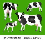 vector illustration. cows and... | Shutterstock .eps vector #1008813493