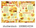 fast food posters of sandwiches ... | Shutterstock .eps vector #1008814234