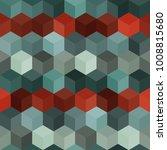 hexagon grid seamless vector... | Shutterstock .eps vector #1008815680