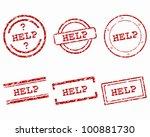 help stamps | Shutterstock .eps vector #100881730
