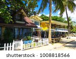 alona beach  bohol  ... | Shutterstock . vector #1008818566