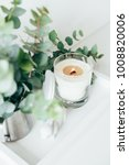 natural eco home decor with...   Shutterstock . vector #1008820006