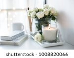White Room Interior Decor With...