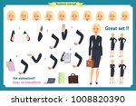 set of businesswoman character... | Shutterstock .eps vector #1008820390