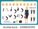 set of businesswoman character... | Shutterstock .eps vector #1008820390