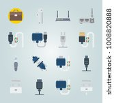 icon set about connectors... | Shutterstock .eps vector #1008820888