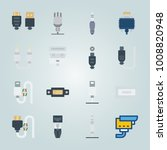 icon set about connectors... | Shutterstock .eps vector #1008820948