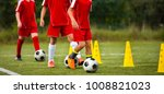 soccer camp for kids. children... | Shutterstock . vector #1008821023