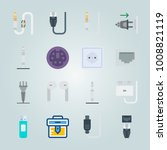 icon set about connectors...   Shutterstock .eps vector #1008821119