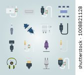 icon set about connectors... | Shutterstock .eps vector #1008821128