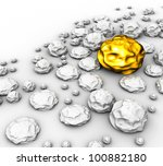 three dimensional stones on a... | Shutterstock . vector #100882180