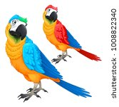 funny parrots in two different... | Shutterstock .eps vector #1008822340