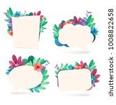 set banner design template with ... | Shutterstock .eps vector #1008822658