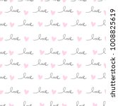romantic seamless pattern with... | Shutterstock .eps vector #1008825619