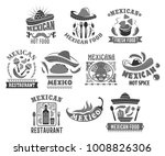 mexican restaurant icons set of ... | Shutterstock .eps vector #1008826306