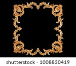gold frame on a black... | Shutterstock . vector #1008830419