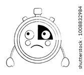sad chronometer kawaii icon... | Shutterstock .eps vector #1008832984