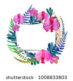 flowering orchids and herbs...   Shutterstock . vector #1008833803
