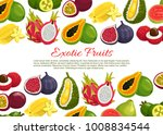 exotic fruits poster of... | Shutterstock .eps vector #1008834544