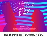 happy presidents day in usa... | Shutterstock .eps vector #1008834610