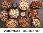 different kinds of nuts in... | Shutterstock . vector #1008834700