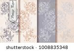 damask pattern set vector.... | Shutterstock .eps vector #1008835348