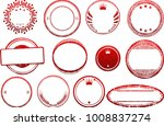 big set of red templates for... | Shutterstock .eps vector #1008837274