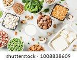 healthy diet vegan food  veggie ... | Shutterstock . vector #1008838609