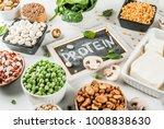 healthy diet vegan food  veggie ...   Shutterstock . vector #1008838630