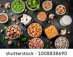 healthy diet vegan food  veggie ... | Shutterstock . vector #1008838690