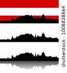 silhouette of salzburg | Shutterstock .eps vector #1008838864