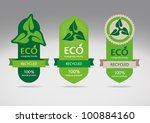 ecological recycle labels  ... | Shutterstock .eps vector #100884160