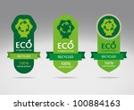 ecological recycle labels  ... | Shutterstock .eps vector #100884163