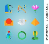 icon set about egypt with... | Shutterstock .eps vector #1008845218