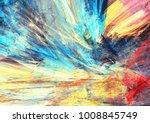 bright artistic splashes.... | Shutterstock . vector #1008845749