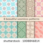 set of 8 patterns. collection... | Shutterstock .eps vector #1008846814
