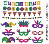 mardi gras vector masks and... | Shutterstock .eps vector #1008847780