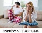 worried couple having problems...   Shutterstock . vector #1008848188