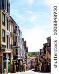narrow medieval street balboraz ... | Shutterstock . vector #1008848950