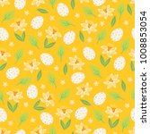 easter seamless pattern with... | Shutterstock .eps vector #1008853054