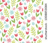 easter seamless pattern with... | Shutterstock .eps vector #1008853084