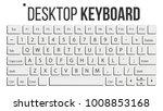 keyboard isolated vector....   Shutterstock .eps vector #1008853168