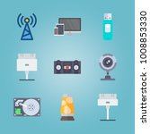 icon set about gadgets with... | Shutterstock .eps vector #1008853330