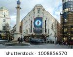 london january  2018  exterior...   Shutterstock . vector #1008856570