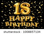 18 years anniversary  happy... | Shutterstock .eps vector #1008857134