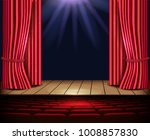 a theater stage with a red...   Shutterstock .eps vector #1008857830