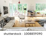 corner couch with pillows and... | Shutterstock . vector #1008859390