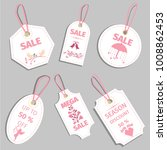 valentine s day sale tag sale... | Shutterstock .eps vector #1008862453