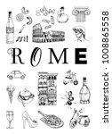 Rome poster. Vector set of landmarks of Rome | Shutterstock vector #1008865558
