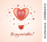 vector happy valentines day  be ... | Shutterstock .eps vector #1008866413